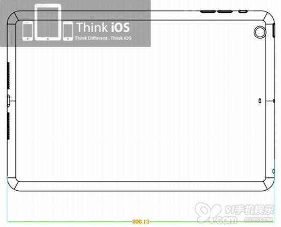 7寸屏幕?苹果ipad mini设计图曝光