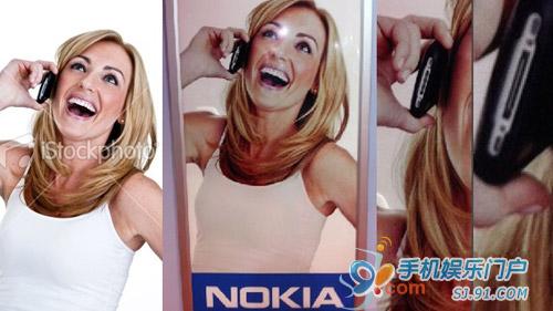 诺基亚官方宣传海报手机竟为iPhone